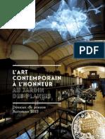 Dossier de Presse Rentree Artistique-Museum2013
