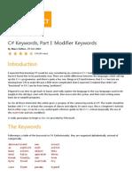 C# Keywords, Part I_ Modifier Keywords - CodeProject