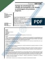 NBR 8286 - EMPREGO DA SINALIZAÇÃO NAS UNDIADES DE TRANSPORTE E DE ROTULOS NAS EMBALAGENS DE PRODUTOS PERIGOSOS.pdf