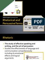 rhetorical and persuasive terms