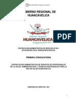 Convocatoria CAS 001-Huancavelica