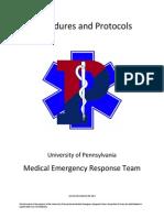 Penn Medical Emergency Response Team Protocols