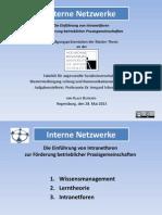 Interne Netzwerke-Präsentation