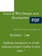 Laws of Web Development