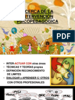 ACERCA DE LA INTERVENCIÓN PSICOPEDAGÓGICA