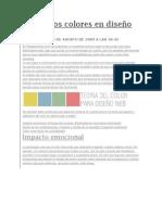 Uso de los colores en diseño web
