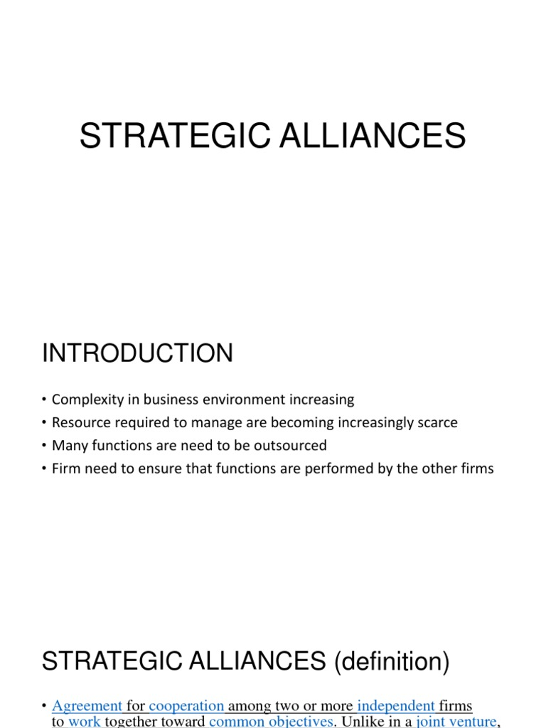 strategic alliances.pptx | logistics | supply chain management