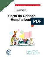 Anotacoes Carta Crianca Hospitalizada 2009