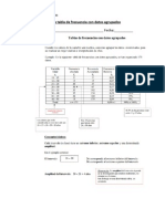 Guía de tabla de frecuencia con datos agrupados