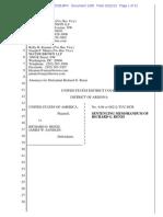 Rick Renzi sentencing memorandum