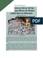 Diez tesis en favor de las descargas libres de bienes culturales en Internet. Enrique G. Gallegos.pdf