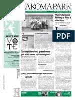 Takoma Park Newsletter - November 2013