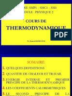 Cours de Thermodynamyque Sm1-Smp1-Smc1