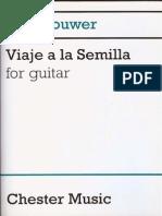 Leo Brouwer-Viaje a La Semilla for Guitar (Guitar Scores)-Chester Music (2000)