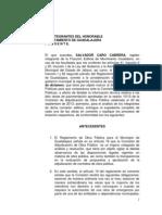 Iniciativa comparecencia titular de Obras Públicas de Guadalajara.