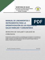 Lineamientos Operativos Equipos de Salud Familiar Comunitario Mafe Taulabe