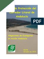 Alegaciones al Plan de Protección del Corredor Litoral de Andalucía