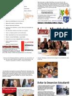 Diptico Para Institutos 2013