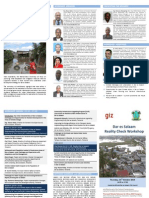Dar es Salaam Reality Check Workshop Flyer 31 October 2013