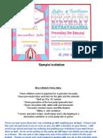 1116 sample invitations