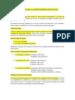 PREPARACIÓN PARA LAS REUNIONES GRUPALES (1)