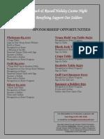 Sponsorship Opportunites 2013