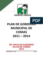 COMAS Plan Del Actual Alcalde