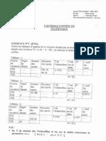 statistiques appliquées - contrôle continu 2001-2002