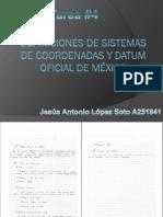 Definiciones de Sistemas de Coordenadas y Datum Oficial