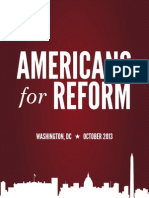 Americans for Reform talking points