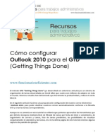 Cómo configurar Outlook 2010 para aplicar GTD Getting Things Done