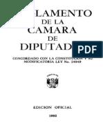 1992 Reglamento Camara Diput