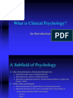 What is Clinical Psychology