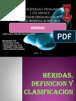 Heridas, Definicion y Clasificacion.ppt Expo Cirugia