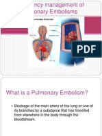 Emergency management of Pulmonary Embolisms.pptx