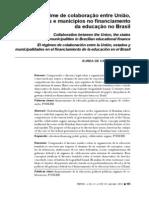 O regime de colaboração entre União, estados e municipios