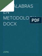 30 Palabras en Metodologia