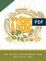 2009 Oregon Brewers Festival Program