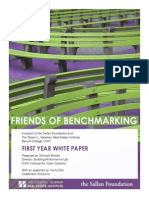 Friends of Benchmarking First Year White Paper