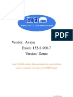 CertifySky Avaya 132-S-900.7 FREE Training Materials & Study Guide 2009