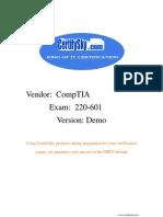 CertifySky CompTIA A+ 220-601 FREE Training Materials & Study Guide 2009