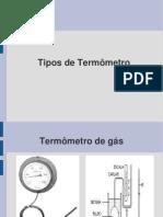 Tipos de  Termômetros - Cópia