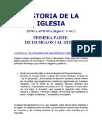 Historia de La Iglesia - Epoca Antigua
