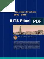 Placement Brochure BITS Pilani