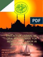 Vaginal Oral Misoprostol-Rafiq