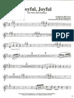 Joyful, Joyful - Clarinet 1-2