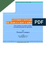 Antidiccionario de Seduccion y Erotismo - Manuel Lampre