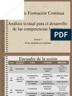 Análisis textual Sesión 1