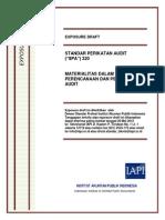 ED SPA 320-Materialitas dalam Tahap Perencanaan dan Pelaksanaan Audit.pdf