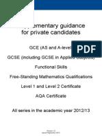 aqa private candidate guide.PDF